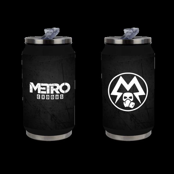 METRO EXODUS METAL CAN SPARTAN LOGO